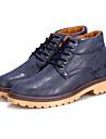 Femme-Decontracte-Noir / Bleu / Marron-Talon Bas-Confort-Sneakers-Polyurethane