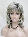 nouvelle blonde avec off melange noir racine blond longueur moyenne en cascade couches synthetiques pleine perruque cheveux femmes