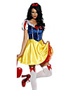 Costumes de Cosplay / Costume de Soiree Princesse / Conte de Fee Fete / Celebration Deguisement Halloween Jaune / Bleu ImprimeRobe /