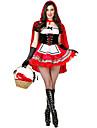 Cosplay Kostymer/Dräkter / Festklädsel Oktoberfest Festival/Högtid Halloween Kostymer Röd / Vit / svart Tryck Klänning / Handskar / Kappa