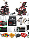 Kit de tatouage complet 2 x Machine a tatouer en fonte pour le tracage et l\'ombrage 2 Machines de tatouage LCD alimentationEncres