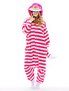 Kigurumi Pyjamas nya Cosplay® / Katt Leotard/Onesie Halloween Animal Sovplagg Rosa Lappverk Polar Fleece Kigurumi UnisexHalloween / Jul /