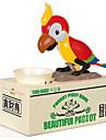 Sparbössor Originella leksaker Behållare Fågel Plast Silver Grön Brun