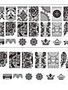 l\'impression de dentelle ongle art estampage decor manucure bricolage estampage des plaques pour outils ongles modeles de salon BC03