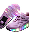 Fille-Exterieure Decontracte Sport-Noir Bleu Rose-Talon Bas-Confort Light Up Chaussures-Baskets-Cuir