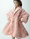 Informel Plus d\'accessoires Pour Poupee Barbie Rose Couleur Pleine Manteau Pour Fille de Doll Toy