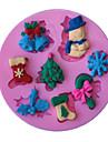 neige moule a cake serie noel sucre double mode de savons de moule en silicone decoration