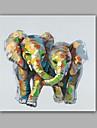 HANDMÅLAD Abstrakt / Djur olje~~POS=TRUNC,Moderna / Klassisk En panel Kanvas Hang målad oljemålning For Hem-dekoration