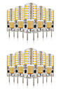 3W G4 LED a Double Broches T 48 SMD 3014 140-160 lm Blanc Chaud / Blanc Froid / Blanc Naturel Decorative / Etanches V 10 pieces