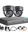 twvision 4ch enregistreur de surveillance 1000tvl cameras dome systeme cctv dvr video hdmi 960H cctv