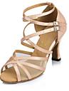 Chaussures de danse(Noir / Rouge / Blanc) -Personnalisables-Talon Personnalise-Cuir-Latine / Moderne / Salsa