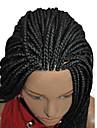 couleur noire tressage perruque dentelle synthetique devant perruques pour les femmes afro tressees lace front perruques longues perruques