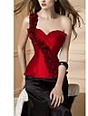Corset Doux Cosplay Vetements de Lolita Rouge / Blanc / Noir / Bleu Couleur Pleine Sans manche Corset / Strings Pour Femme Satin