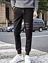 Bărbați Drept Simplu Talie Medie,Micro-elastic Pantaloni Chinos Pantaloni Mată