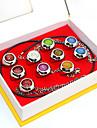 Mer accessoarer Inspirerad av Naruto Akatsuki Animé Cosplay Accessoarer Ring Silver Legering
