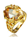 Inel Zirconiu Cubic Placat Auriu 18K de aur Auriu Bijuterii Nuntă Petrecere Zilnic Casual 1 buc