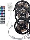 15m (3 * 5m) 5050 rgb 450 leds bande de lumiere flexible conduit lumieres chaine de bandes non etanches 450leds dc 12v avec kit 44key