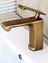 entraxe traditionnelle valve en ceramique poignee seul trou avec laiton antique robinet evier salle de bains