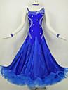 Ballroom Dance Dresses Women\'s Performance Spandex Draped Crystals 1 Piece Black Modern Dance Dress