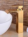 laiton cascade de mode salle de bain ti-pvd robinet d\'evier - or