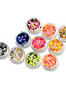 1set 12bottles Nail Art Decoration strass Perles Maquillage cosmetique Nail Art Design
