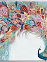 Pictat manual Abstract / Animal Picturi de ulei,Modern / Clasic Un Panou Canava Hang-pictate pictură în ulei For Pagina de decorare