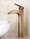 standardului american centerset singur mâner o gaură în bronz antic chiuveta baie robinet