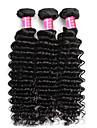 Cheveux vierges bresiliens vague profonde 3 paquets cheveux bresiliens bruns 100% cheveux humains Cheveux vierges bresiliens de 8 po a 28 po