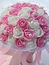 """Wedding Flowers Round Roses Bouquets Wedding Party/ Evening Foam 9.84""""(Approx.25cm)"""