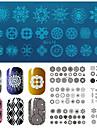 nail art stämpel stämpling bildmall plattan bc spetsar serie