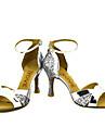 Chaussures de danse(Noir / Rouge / Argent / Or) -Personnalisables-Talon Personnalise-Paillette Brillante-Latine / Salsa