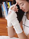 Women\'s Simple Fuzzy Geometric Knitwear Elbow Length Half Finger Cute/ Party/ Casual Winter Gloves