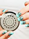full blom designen nail art stämpel stämpling mallbildplatta naglar art dekoration spik mall
