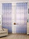 Un Panneau Le traitement de fenetre Moderne , Fleur chambre d\'enfants Melange Poly/Coton Materiel Sheer Rideaux ShadesDecoration