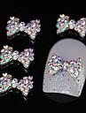 10pcs colore strass papillon bricolage accessoires en alliage nail art decoration