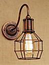 ac 110v-130v / ac 220v-240v 40w e27 de simples b023 et retro americain mur lampe murale creative couleur personnalite rouille appliques