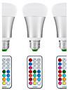 10W E26/E27 Ampoules Globe LED A80 1 COB 1200 lm Blanc Naturel / RVB Gradable / Commandee a Distance / Capteur / Decorative / Etanches V3