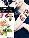 5pcs Tatouages Autocollants Series de fleur Non Toxic / WaterproofHomme flash Tattoo Tatouages temporaires