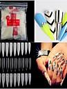 500pcs nakna vita falska nail art tips franska akryl uv salong nail art verktyg