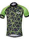 Sportif Maillot de Cyclisme Homme Manches courtes VeloRespirable / Sechage rapide / Design Anatomique / Zip frontal / Bandes