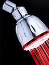Contemporain Douche pluie Chrome Fonctionnalite for  LED / Ecologique , Pomme de douche