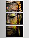 canvas Set Människor Klassisk / Traditionellt,Tre paneler Kanvas Horisontell Print Art väggdekor For Hem-dekoration