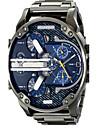 Bărbați Ceas Sport Ceas Militar Ceas Elegant Ceas de Mână Ceas Brățară Quartz Calendar Zone Duale de Timp Punk Aliaj BandăVintage Cool