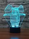 elefant touch med ljusreglering 3d ledde nattlampa 7colorful dekoration atmosfär lampa nyhet belysning jul ljus