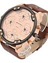 Bărbați Ceas Sport Ceas Militar Ceas Elegant Ceas La Modă Ceas de Mână Quartz Calendar Zone Duale de Timp Punk Piele BandăVintage Cool