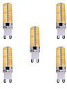 7W G9 Ampoules Mais LED T 80 SMD 5730 500-700 lm Blanc Chaud / Blanc Froid Gradable / Decorative V 5 pieces