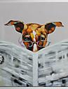 HANDMÅLAD Abstrakt / Djur olje,Moderna / Klassisk En panel Kanvas Hang målad oljemålning For Hem-dekoration