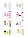 1sheet nagel konst Sticker Vatten Transfer Dekaler skönhet Kosmetisk nagel konst Design