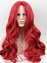 Asien - Stillahavsområdet mode röda damer långt hår i under - LiU Haiguang hög temperatur tråd peruk