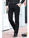 Bărbați Drept Simplu Talie Medie,Micro-elastic Afacere Pantaloni Paiete Mată